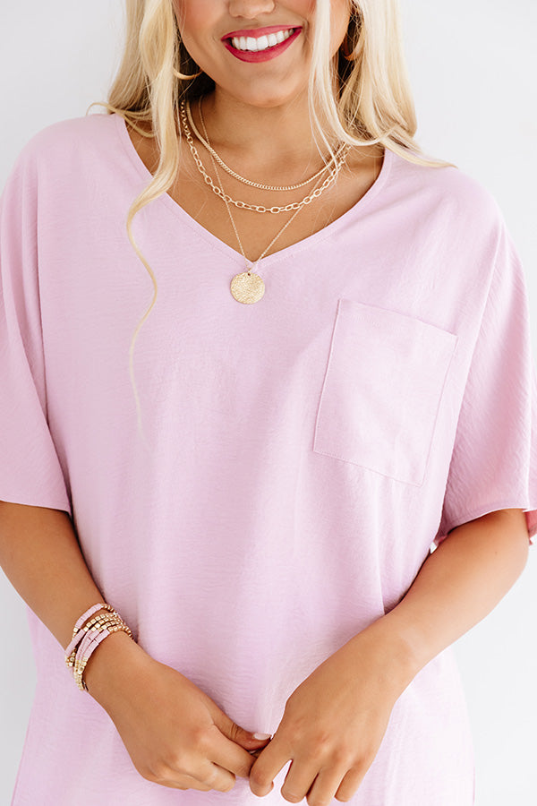 Classically Yours Shift Top In Blush