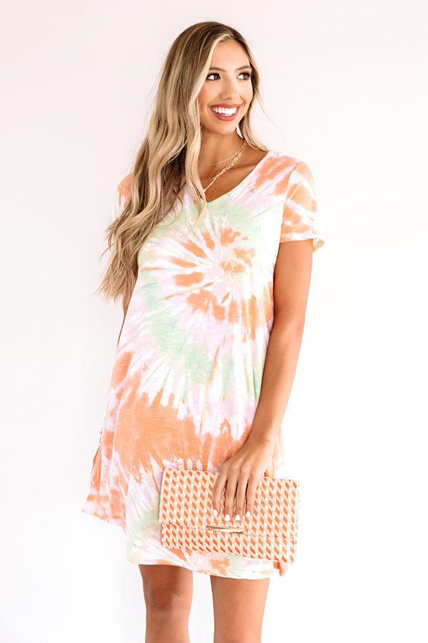 Dressed Like A Daydream Tie Dye Dress In Orange