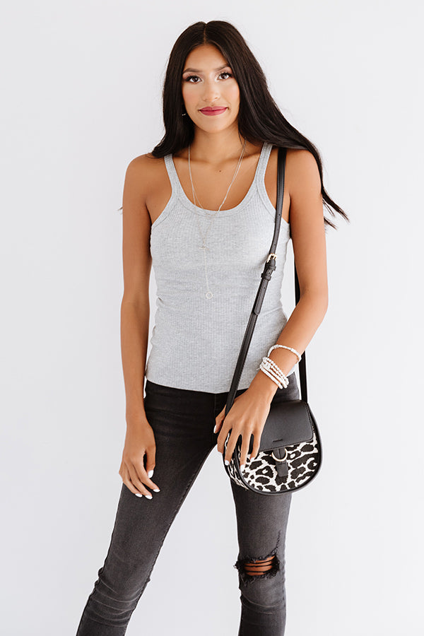 Pick Up The Pace Tank In Grey