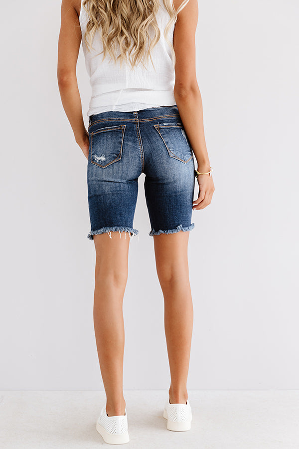 The Sylvie High Waist Distressed Shorts
