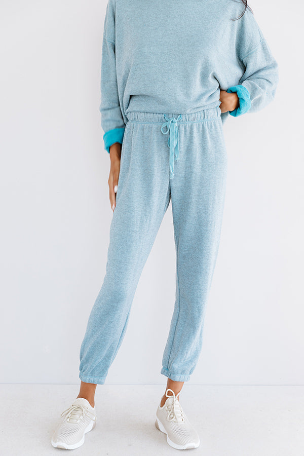Cozy Called Joggers In Blue