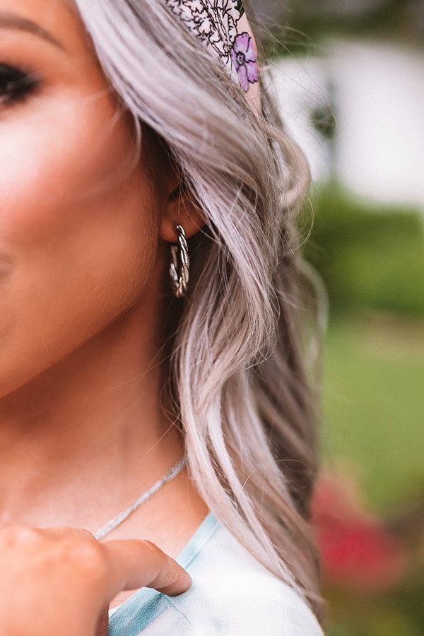 Downtown Brooklyn Hoop Earrings In Silver