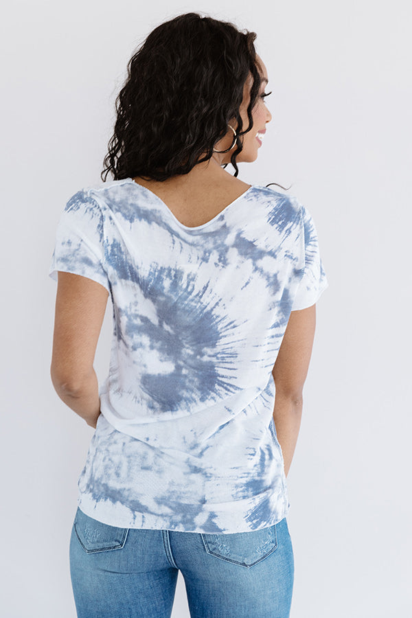 Bound For Big Sur Tie Dye Tee In Riverside