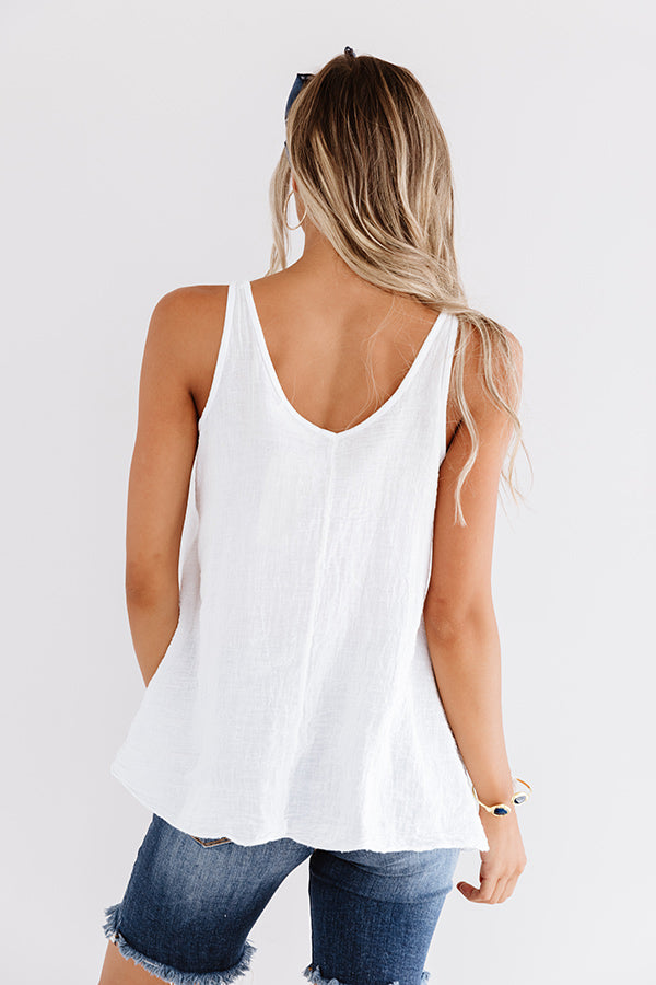 Wish On A Star Shift Tank In White