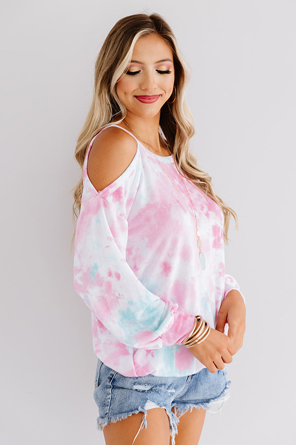 Turn Up The Love Tie Dye Shift Top