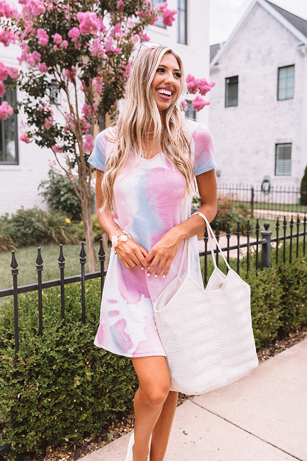 My, Oh My Tie Dye Dress In Blush