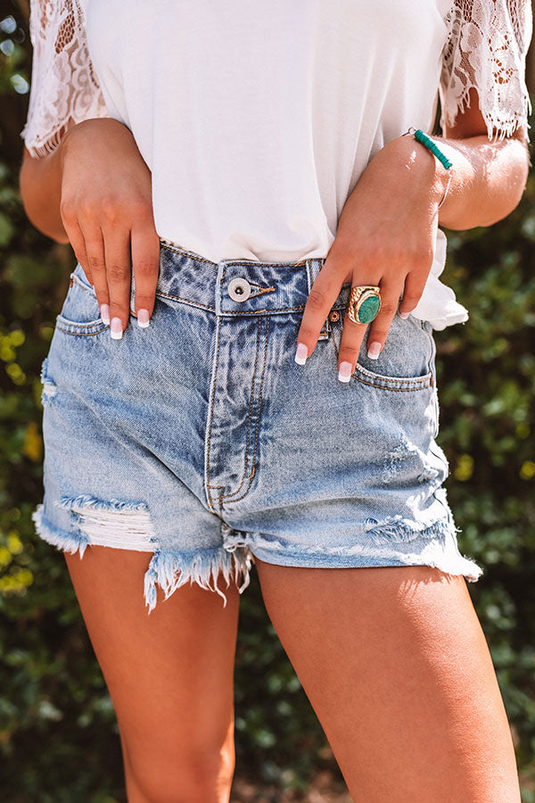 The Cosette High Waist Distressed Shorts