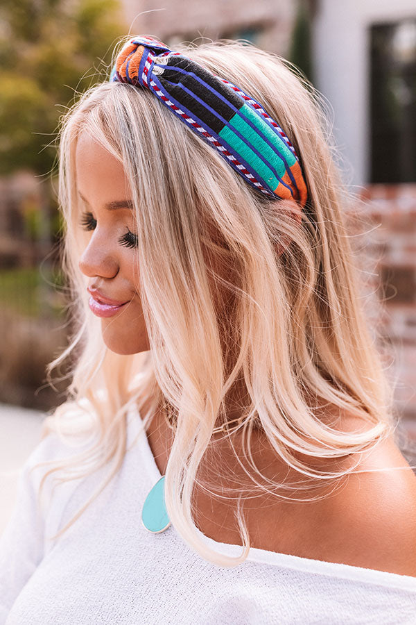 Style Session Headband In Blue