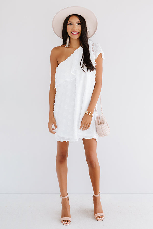 NYC Penthouse Shift Dress In White