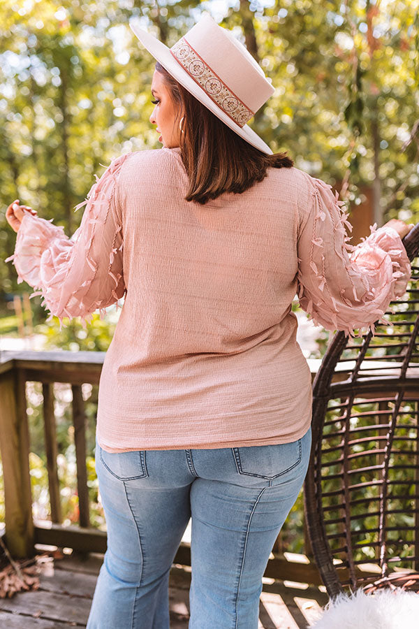 Searching For Love Shift Top In Blush