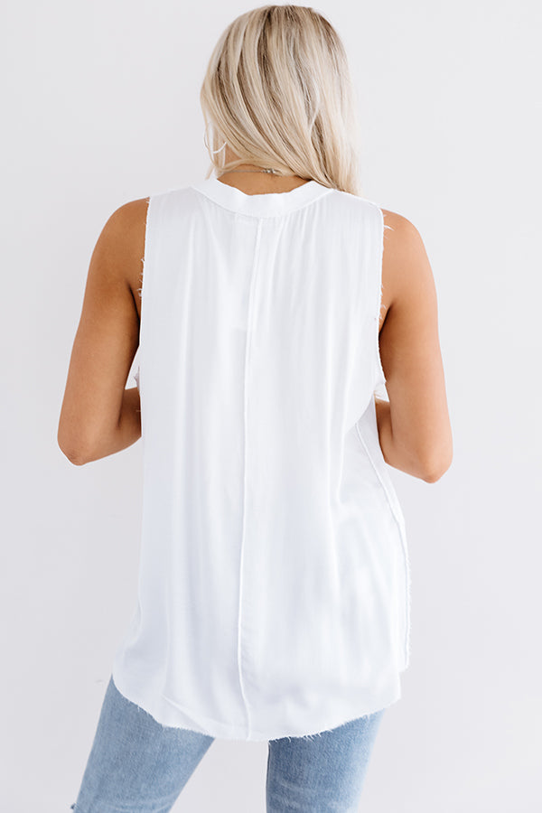 Ocean Overlook Shift Tank In White