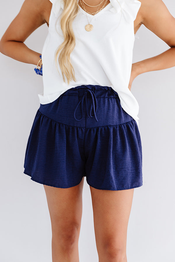 The Missy High Waist Shorts In Navy