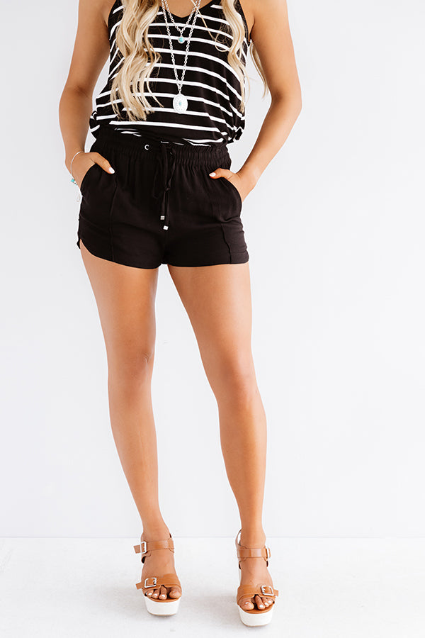 The Rowe Shorts In Black