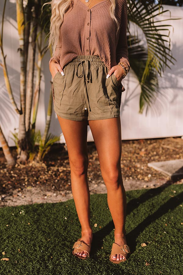The Rowe Shorts In Olive