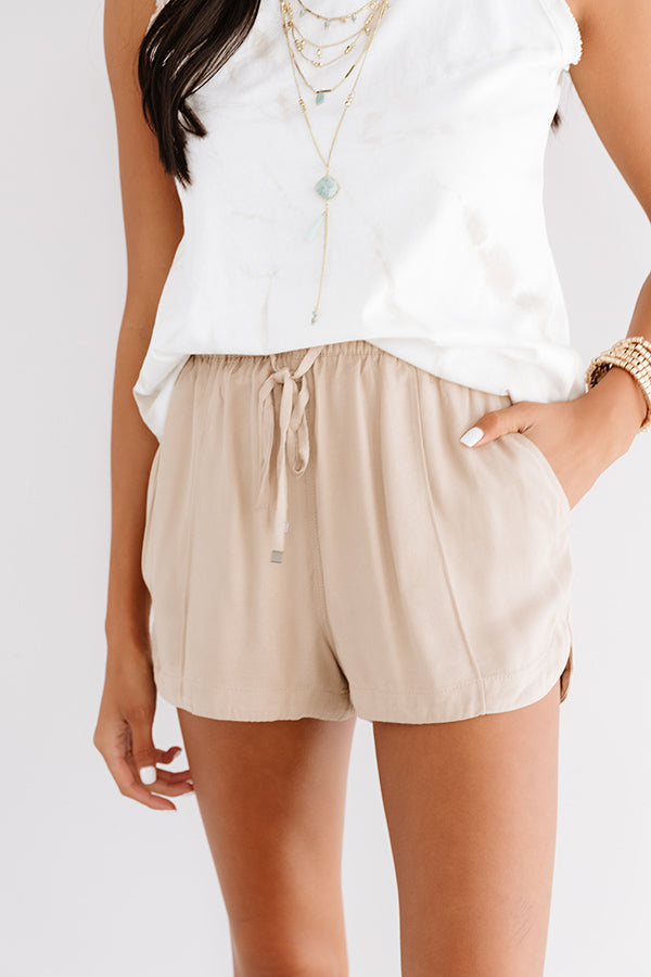The Rowe Shorts In Iced Latte