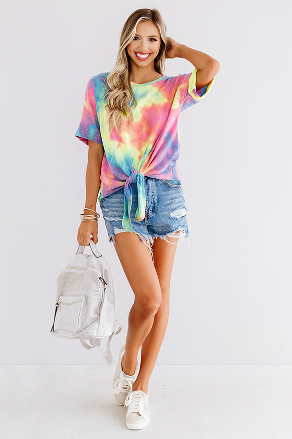 Bright Smile Tie Dye Shift Tee