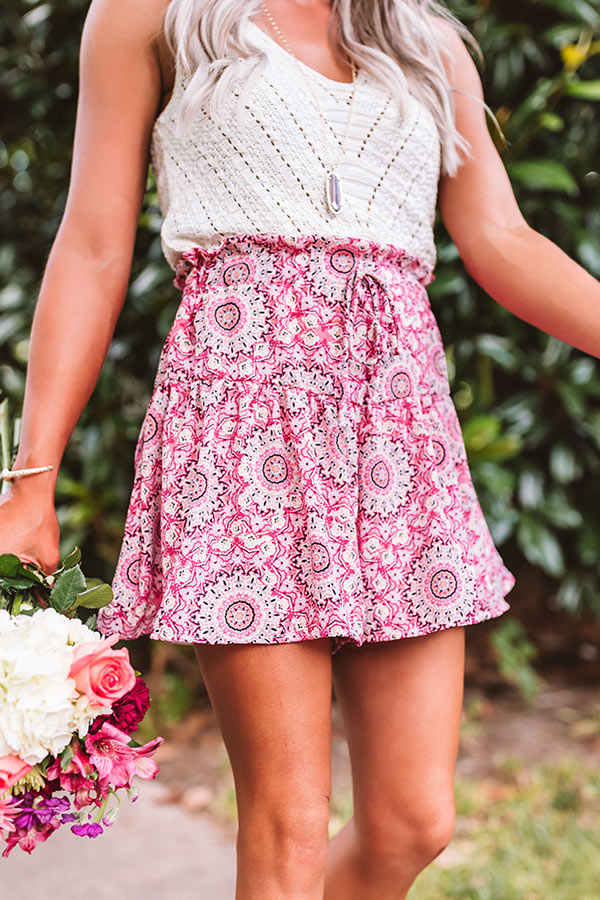 The Missy High Waist Shorts In Rose