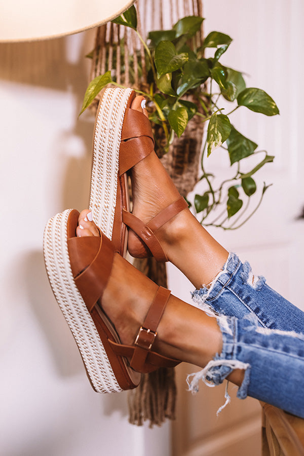 The Cressida Espadrille In Brown