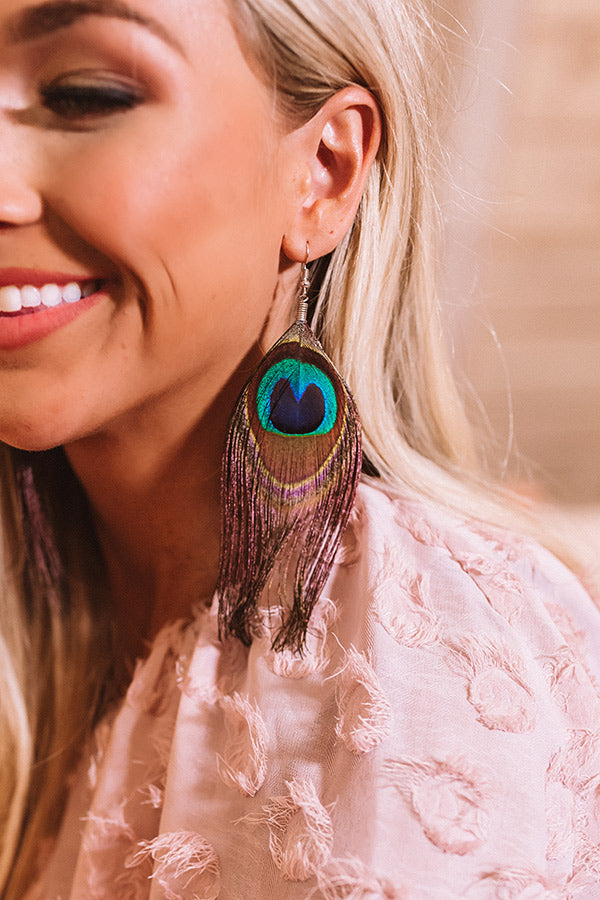 Feather So Sweet Earrings In Wine