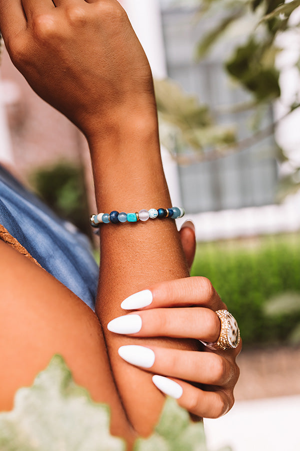 Mystique Blue Mix Semi Precious Bracelet