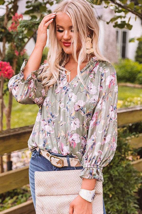 Get To Work Floral Top