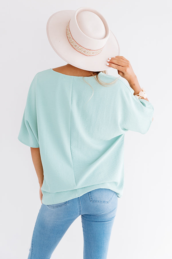 Classically Yours Shift Top In Sea Glass