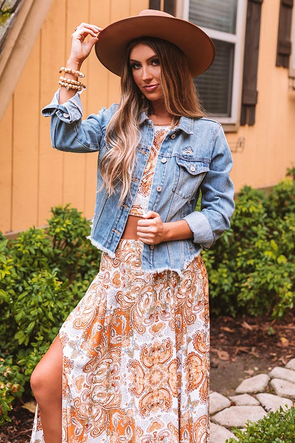 The Gigi Distressed Denim Jacket