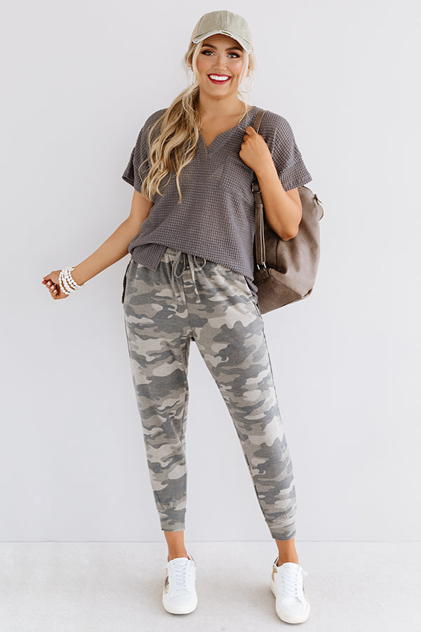 Cozy On The Couch Camo Joggers