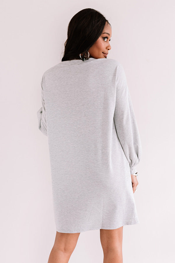 Backroad Bonfire Shift Dress In Grey