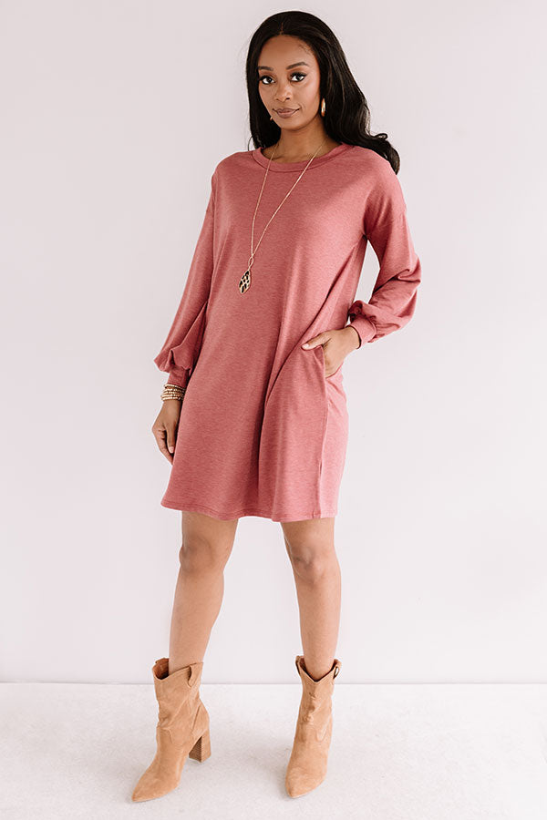 Backroad Bonfire Shift Dress In Aurora Red