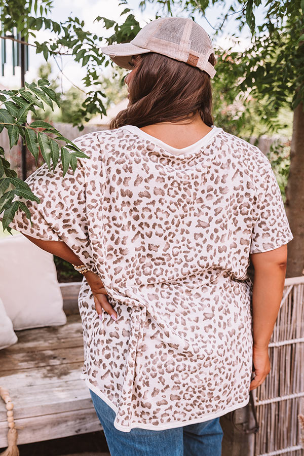 Charming Disposition Leopard Shift Top