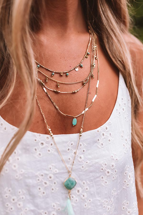 Prosecco Pretty Layered Necklace