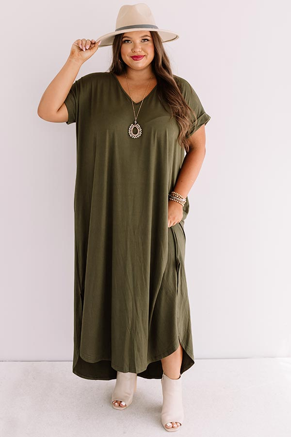 Just My Type T-Shirt Maxi In Army Green