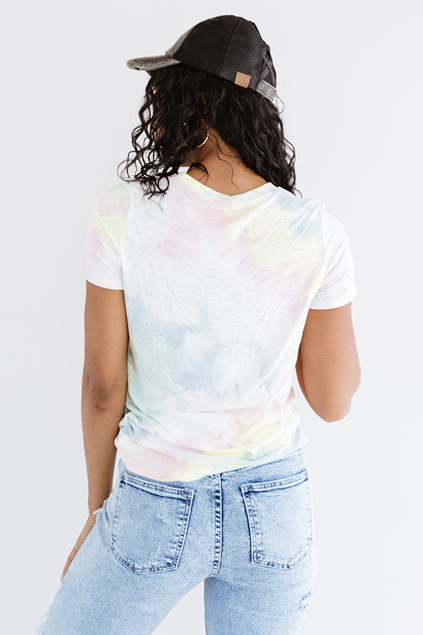 Let's Talk Leopard Tie Dye Tee In Pink