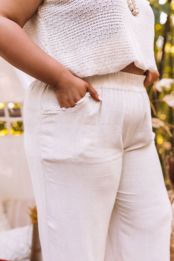 The Munrow High Waist Frayed Pants