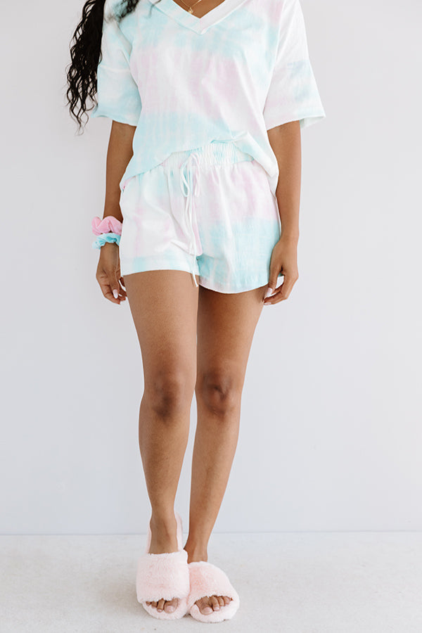Rest And Relaxation Tie Dye Shorts In Pink