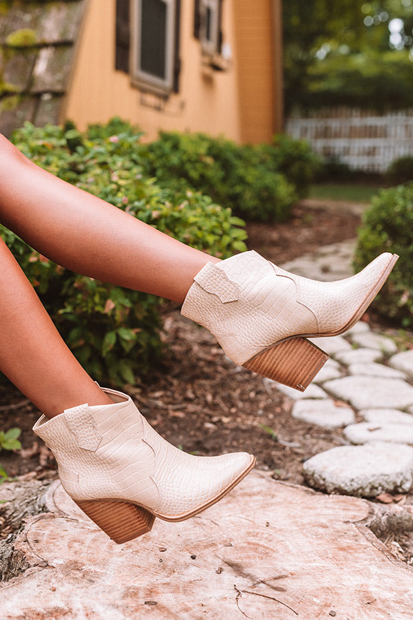 The Bonnie Faux Leather Ankle Bootie