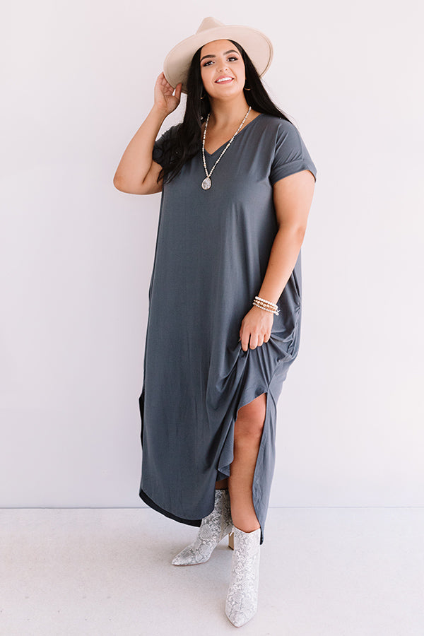 Just My Type T-Shirt Maxi In Slate