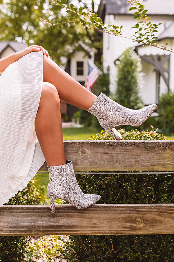 The Erin Snake Print Ankle Bootie