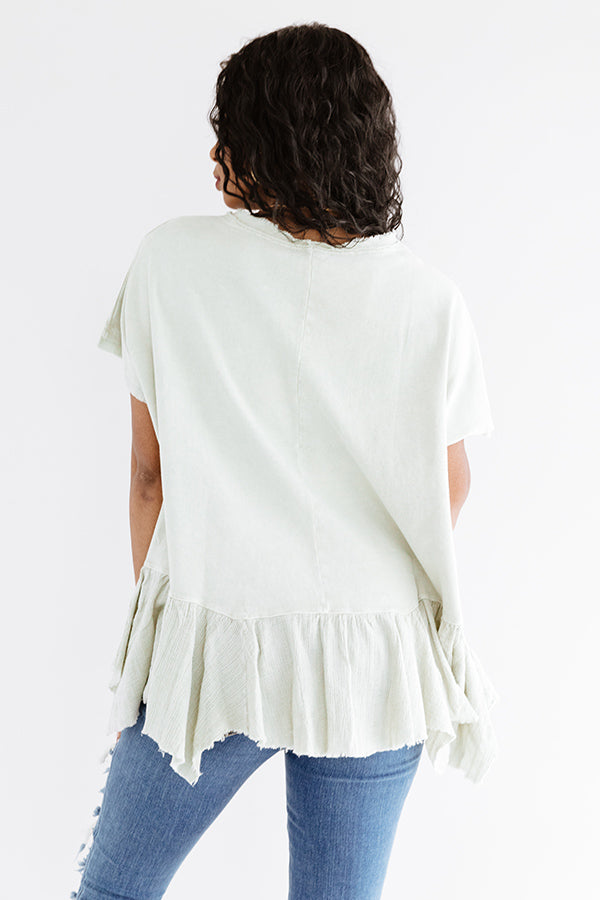 Secluded Cabin Shift Tunic In Stone