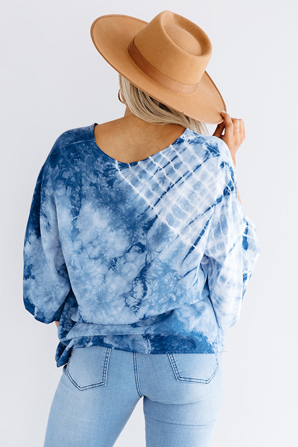 Vino Delight Tie Dye Shift Top
