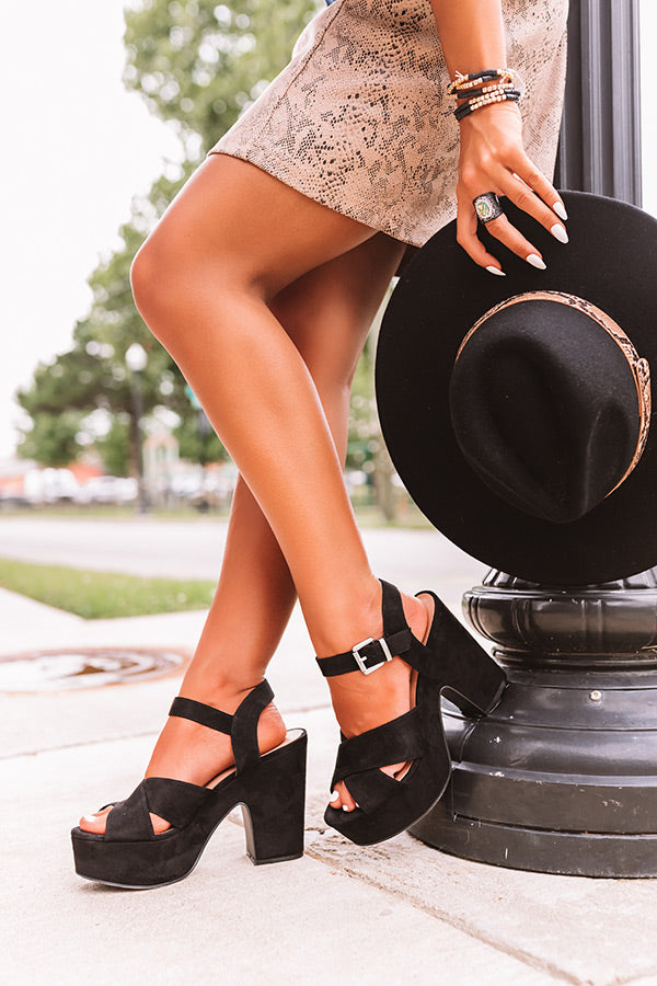 The Bali Platform Heel in Black