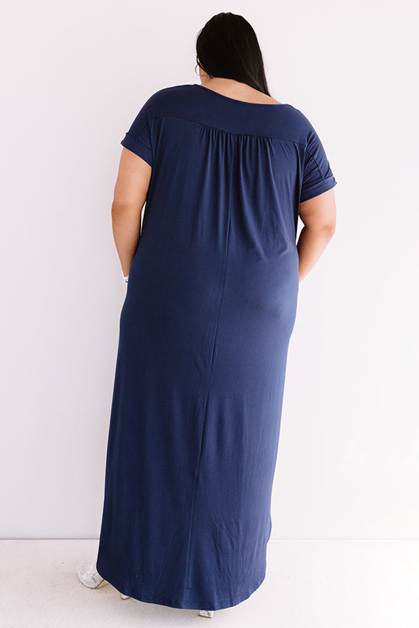 Just My Type T-Shirt Maxi In Navy