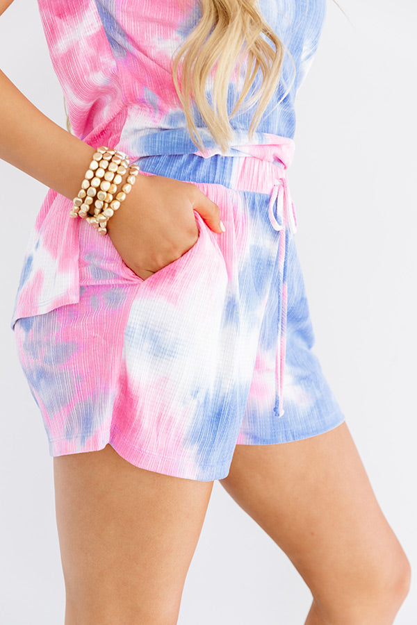 Saturday Night Mood Tie Dye Shorts