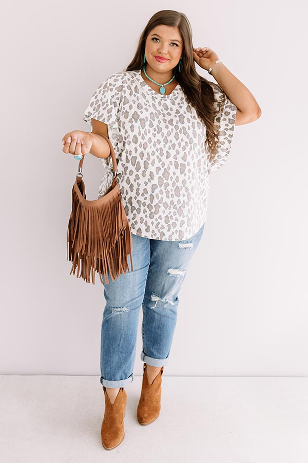 Earn Your Spots Leopard Shift Top