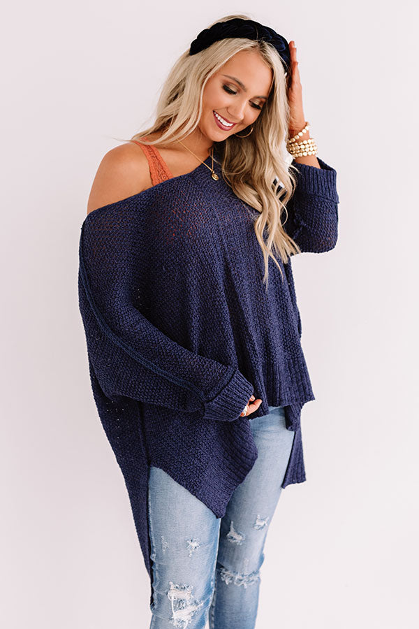Colorado Woods Knit Sweater In Navy