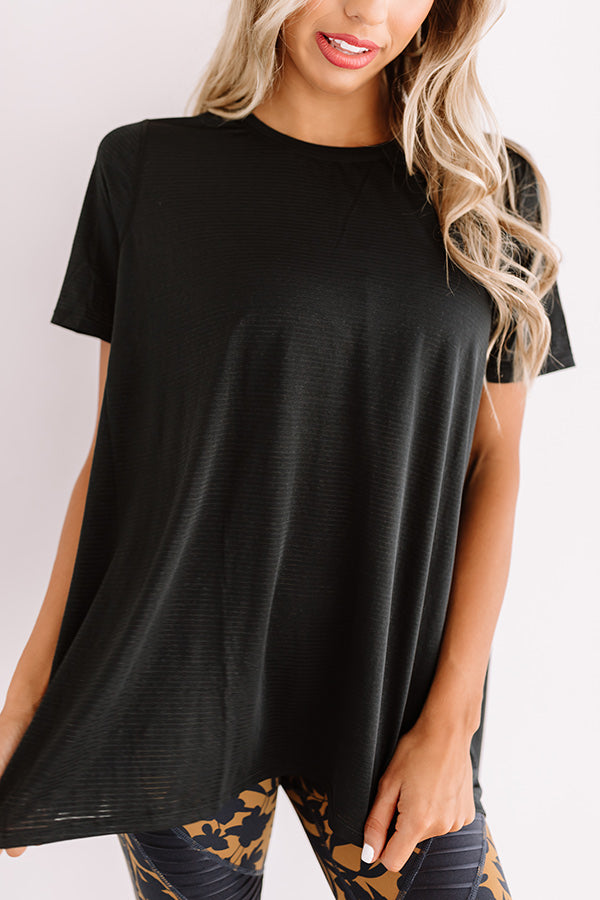 Cycling In Soho Shift Top In Black