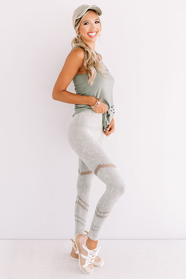 Honor Roll High Waist Legging In Sage