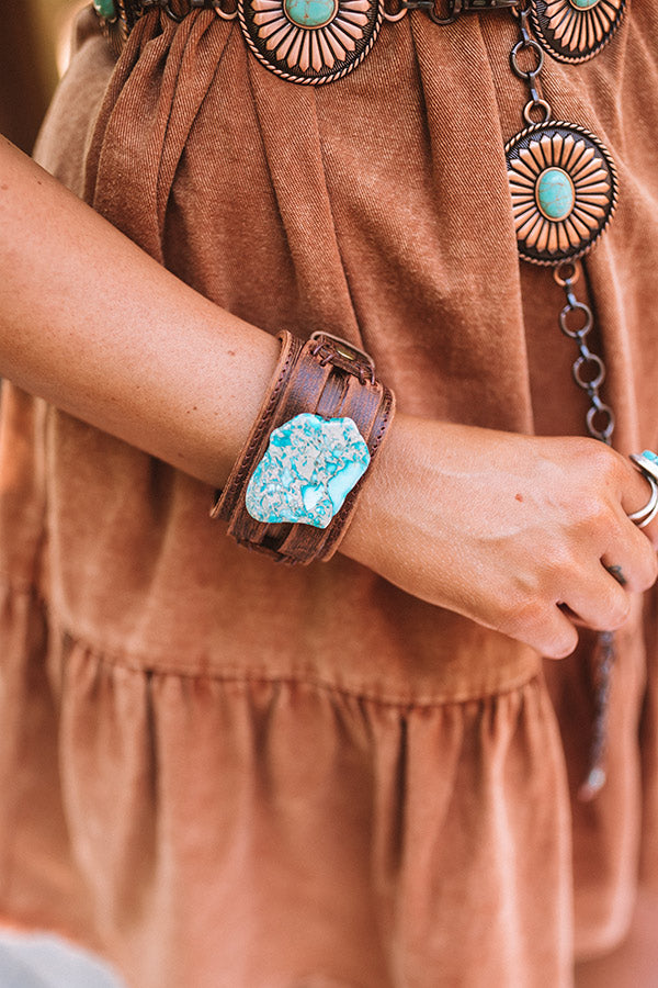 The Lyra Leather Cuff Bracelet