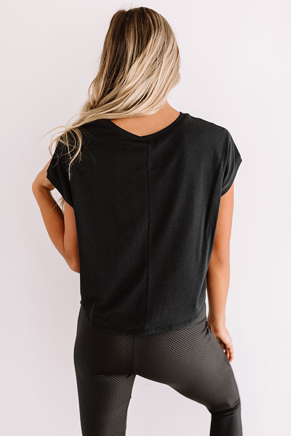 Away From It All Crop Top In Black
